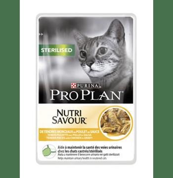 Pro Plan Sterilised Nutrisavour με κοτόπουλο σε σάλτσα 85gr