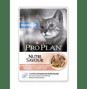 Pro Plan Housecat Nutrisavour με σολομό σε σάλτσα 85gr