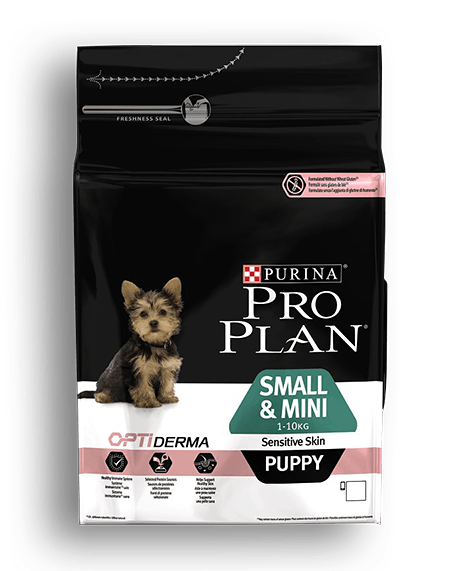 Pro Plan Puppy Small &Mini Sensitive Skin Σολομός 3kg
