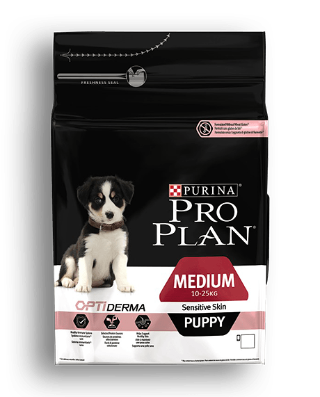 Pro Plan Puppy Medium Sensitive Skin Σολομός 3kg