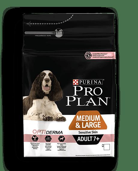 Pro Plan Adult7+ Medium & Large Sensitive Skin Σολομός 14kg